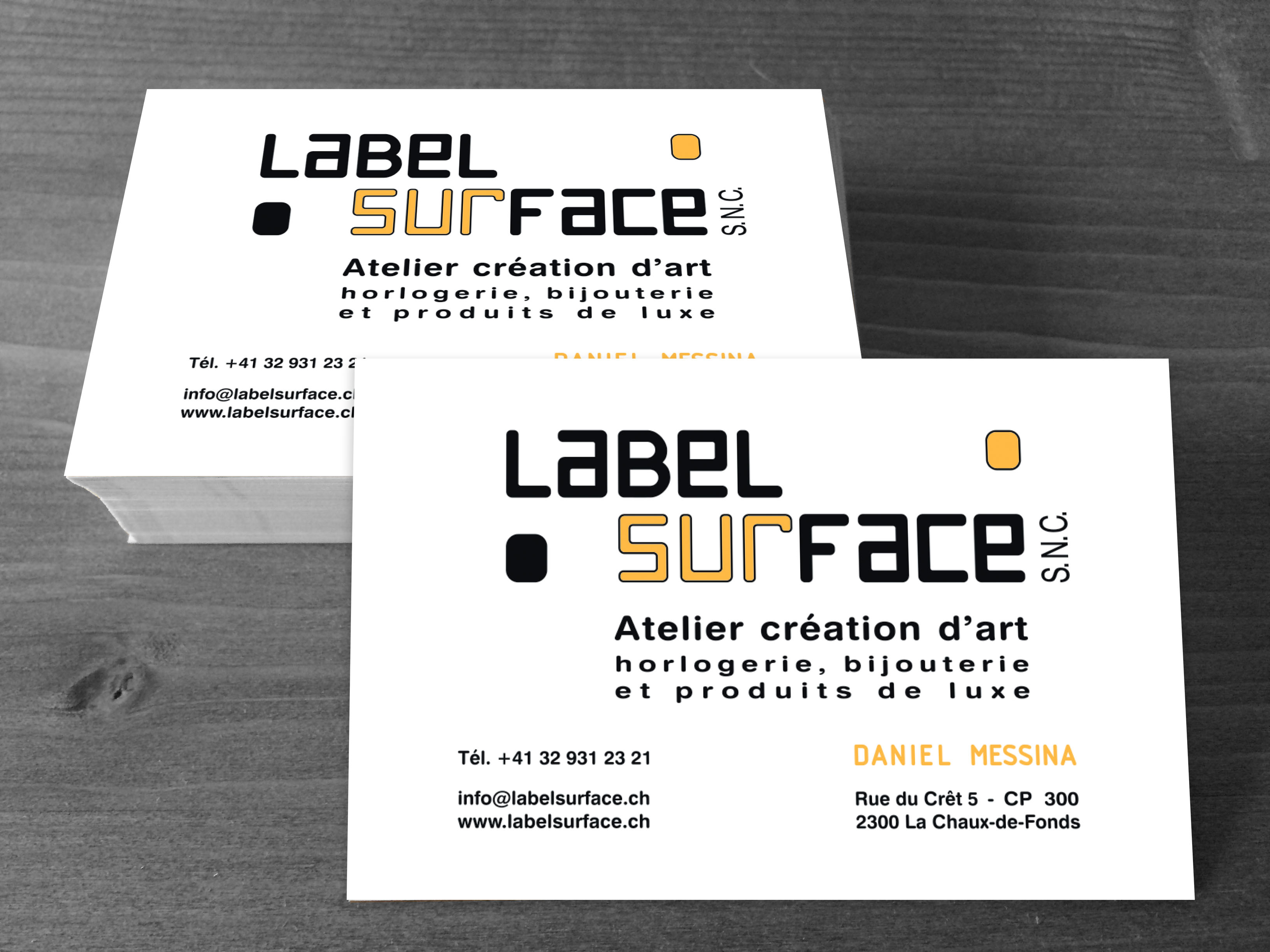 cartes label surface